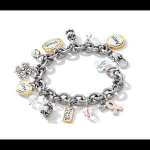 Brighton Power of Pink charm bracelet- Brand new